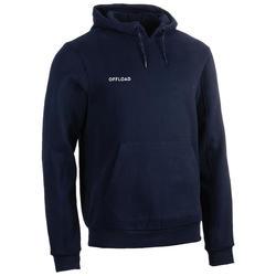 Hoodie voor rugby volwassenen Club R500 blauw
