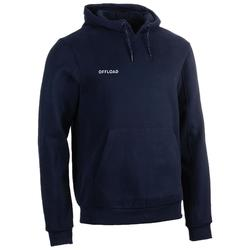 SWEAT-SHIRT CAPUCHE CLUB RUGBY R500 ENFANT bleu