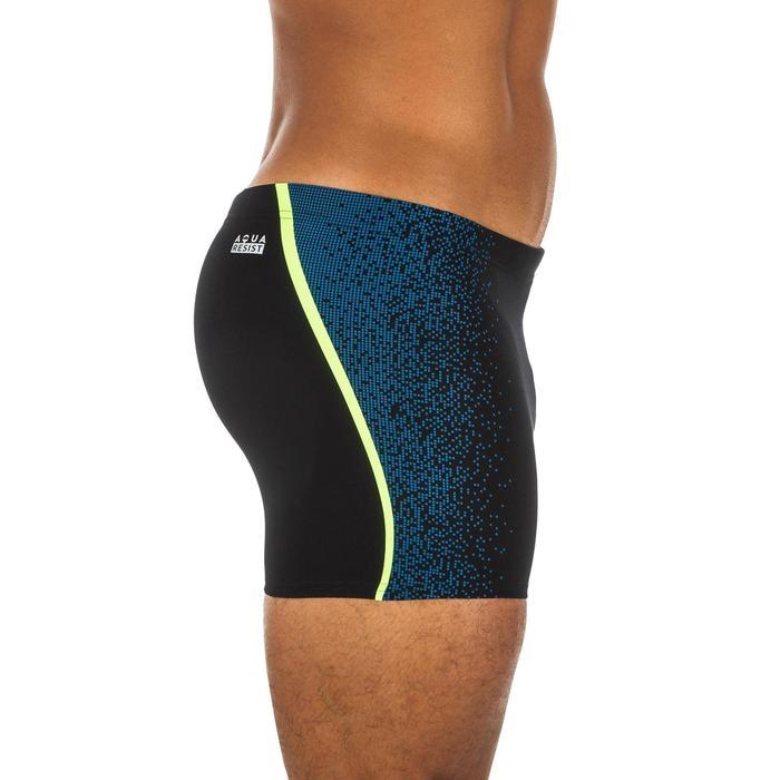 Zwemboxer heren 500 Fit zwart Evol blauw/geel