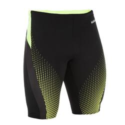 MEN'S SWIMMING SWIMSUIT JAMMER 500 FIRST - BLACK TURN YELLOW