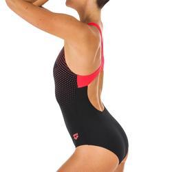 Bañador Natación Una pieza Arena Swim Pro Back Adulto Negro Rojo
