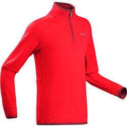 Camiseta interior de esquí júnior Freshwarm 1/2 cremallera roja