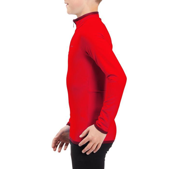 Sous-vêtement de ski enfant Haut Freshwarm 1/2 zip Rouge