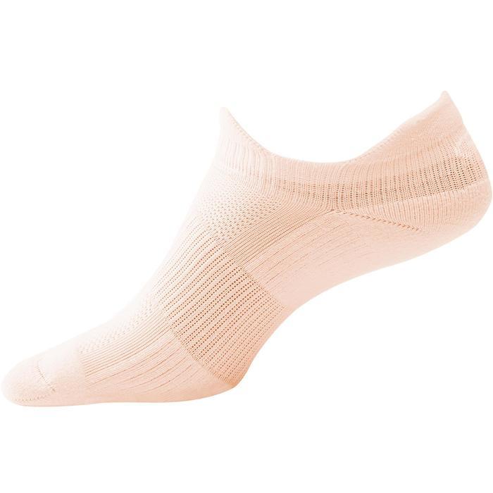 Onzichtbare hardloopsokken Comfort roze X2