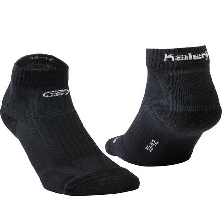 Kiprun Thick Mid-Height Running Socks Black