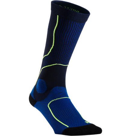 RUNNING COMPRESSION SOCKS - NAVY BLUE/YELLOW