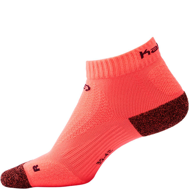 RUNNING MID-HEIGHT THICK SOCKS KIPRUN - CORAL