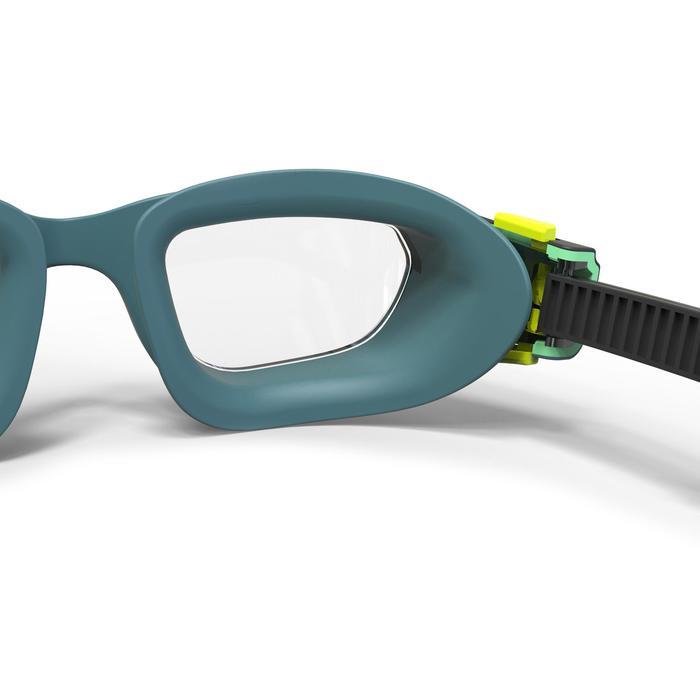 Zwembril 500 Spirit maat S blauw zwart lichte glazen