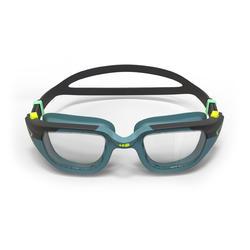 Gafas de natación 500 SPIRIT Talla S azul negro cristales claros