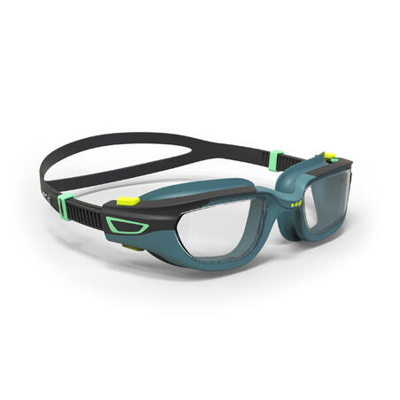 SWIMMING GOGGLES 500 SPIRIT SIZE S BLUE BLACK CLEAR LENSES