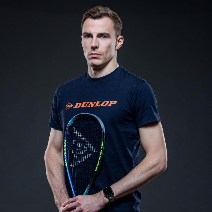 Raqueta Squash Dunlop Hyperfibre + Evolution Pro Adulto Azul