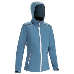 女款軟殼競賽外套-灰色/藍色