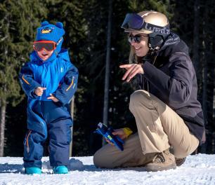 Activité neige bébé