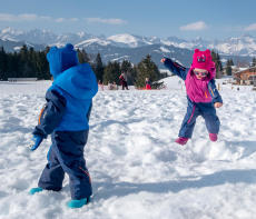 neige activité enfant