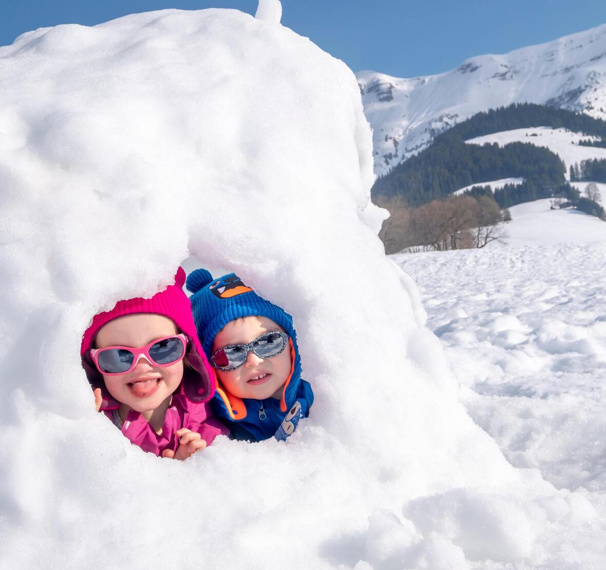 7 activités pour un bébé dans la neige