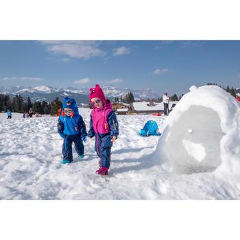 嬰幼兒滑雪/雪橇連指手套Warm - 藍色