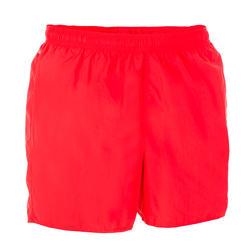 Zwemshort heren 100 Basic rood/zwart