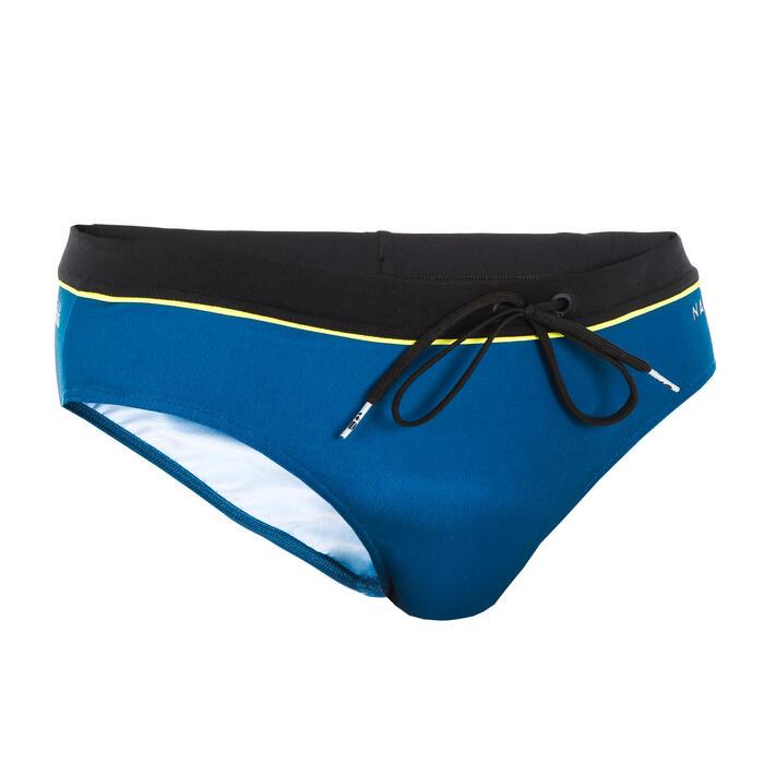 Zwemslip voor heren 100 Pep blauw/zwart