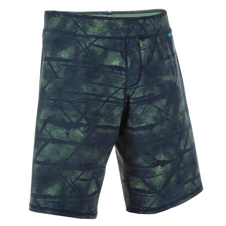 MAILLOT DE BAIN NATATION HOMME SWIMSHORT 100 LONG TEX KAKI
