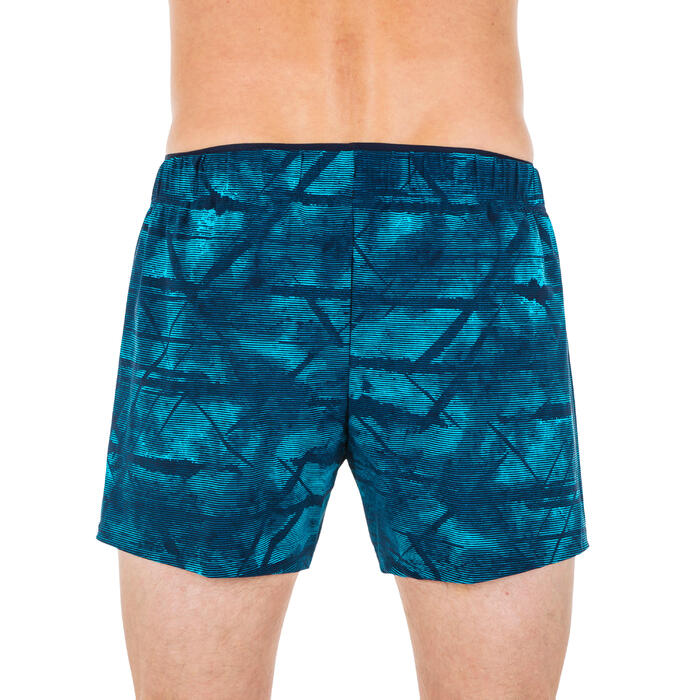 Korte zwemshort voor heren 100 Tex blauw