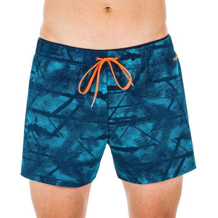 Korte zwemshort heren 100 Tex blauw