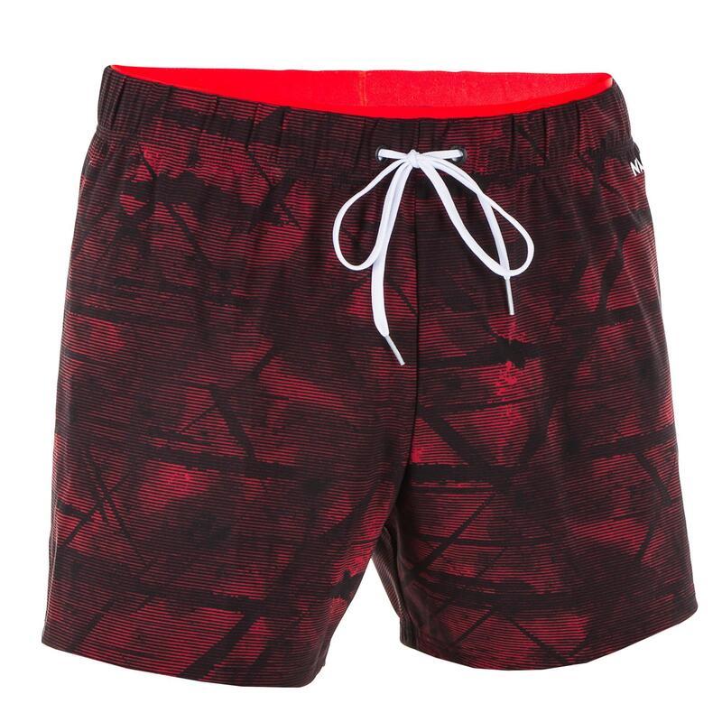 Korte zwemshort voor heren 100 Tex rood