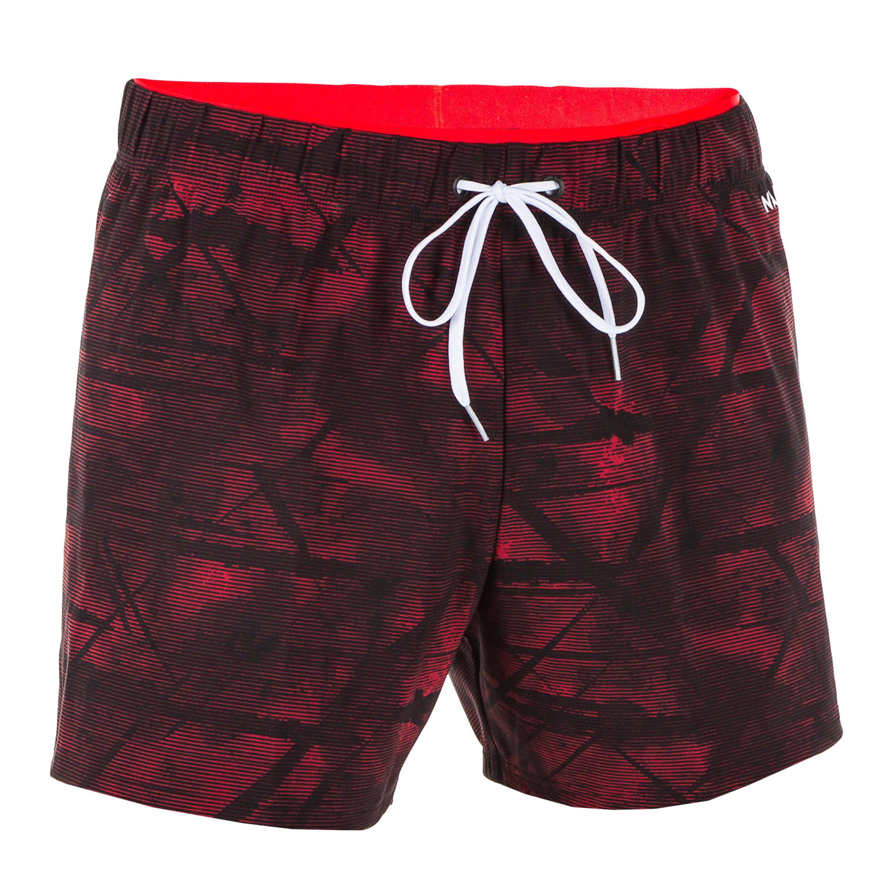 Șort Înot 100 Roșu Bărbați