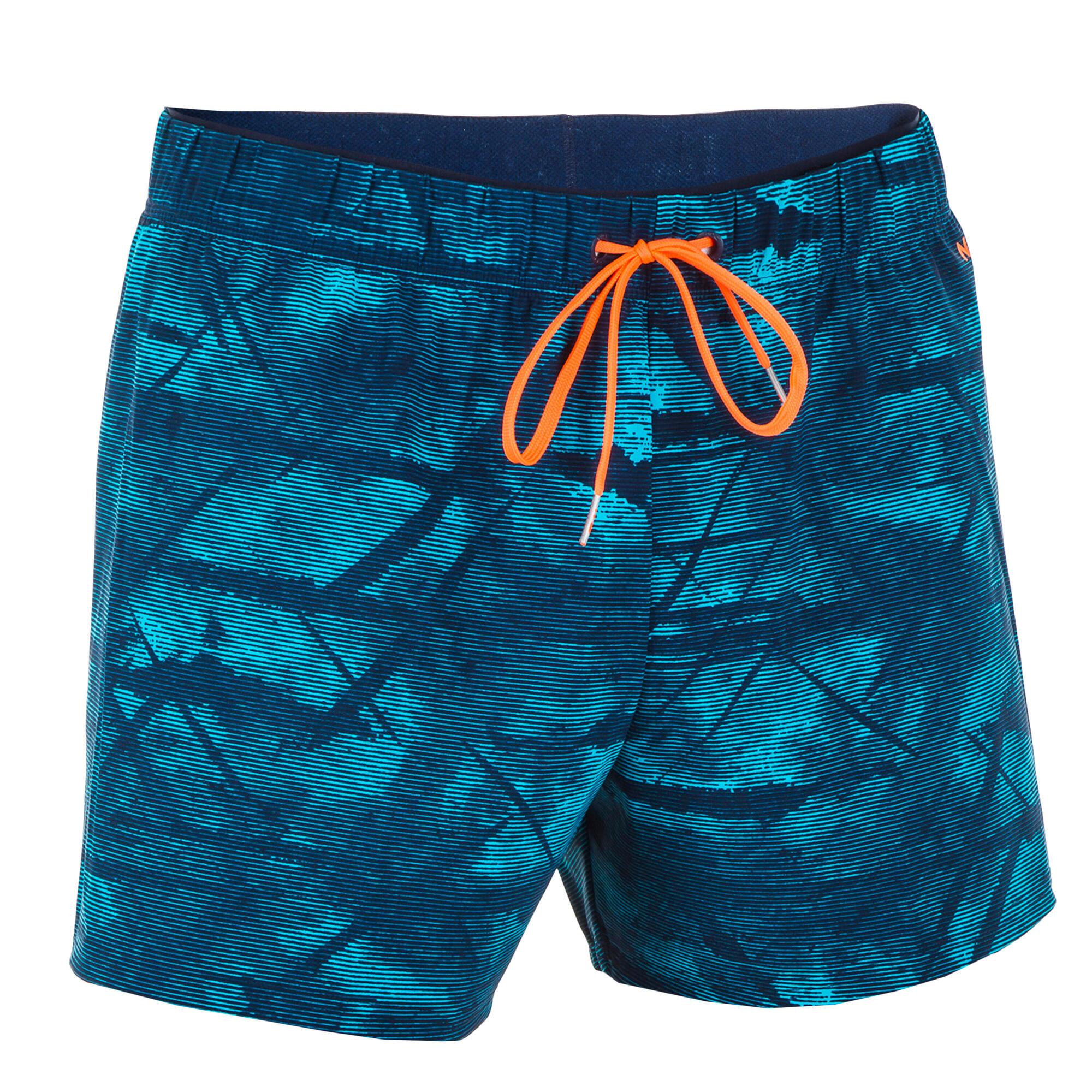 Men's Swimming Short Swim Shorts 100 - Tex Blue | Nabaiji