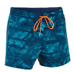 Men Swimming short - Printed Blue Orange