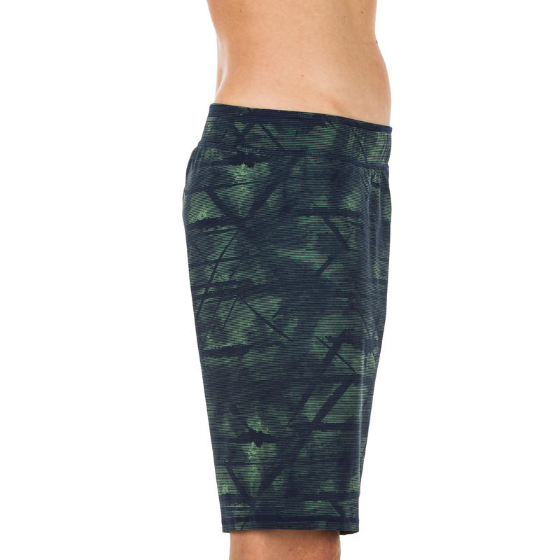 Men's Long Swim Shorts 100 - Green