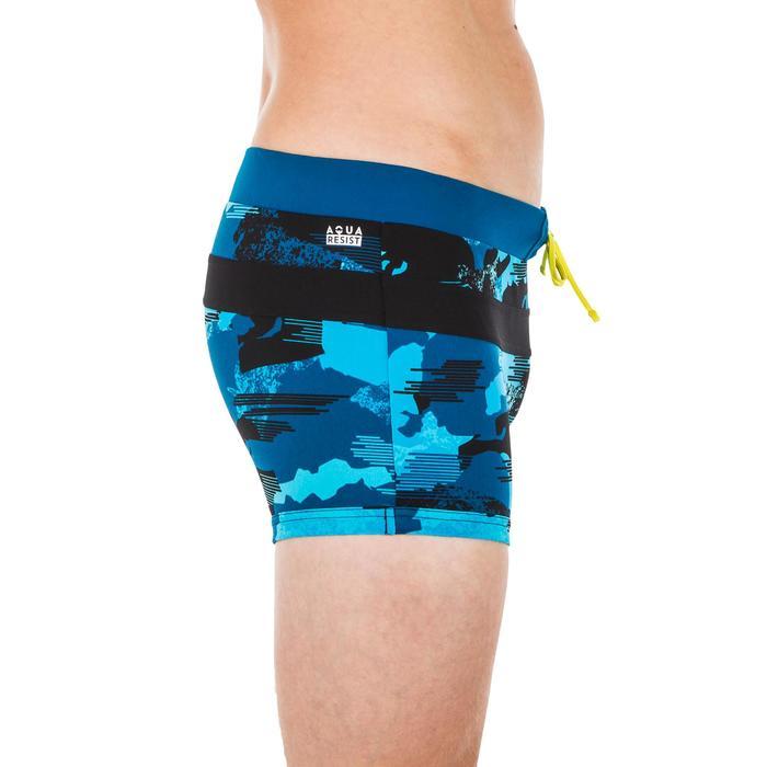 Zwemboxer 100 Pool camouflage blauw/zwart