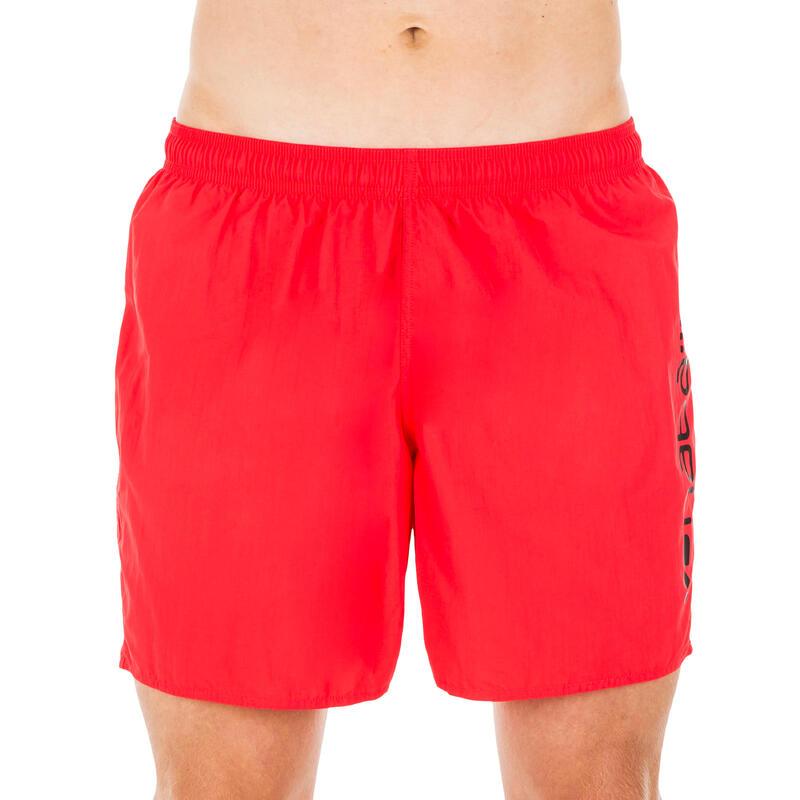 Şort Înot 100 Basic Roșu Bărbaţi
