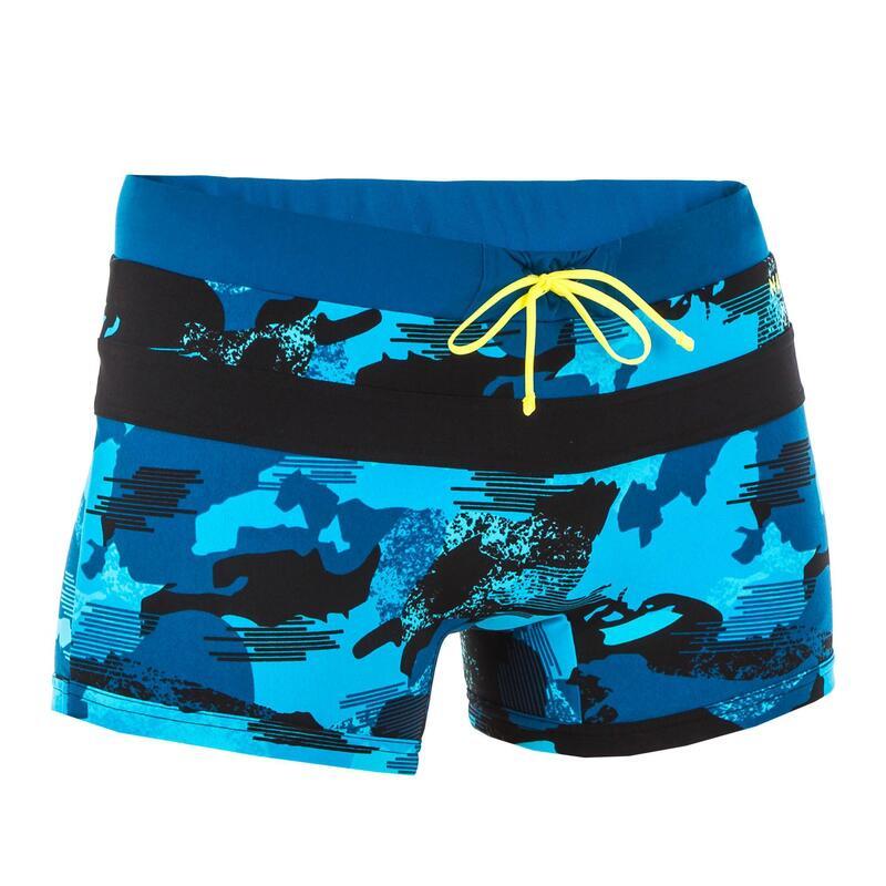 Boxeri înot 100 POOL Negru-Albastru Bărbaţi