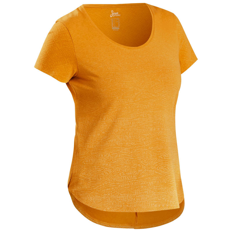 Wandel-T-shirt voor dames NH500 oker