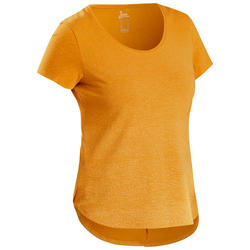 Women's Hiking T-shirt NH500 - Ochre