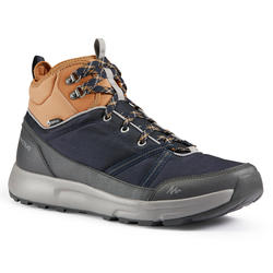 Men's Hiking Shoes WATERPROOF (Mid Ankle) NH150 - Blue/Brown