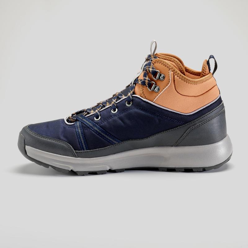 รองเท้าหุ้มข้อผู้ชายมีคุณสมบัติกันน้ำสำหรับใส่เดินในเส้นทางธรรมชาติรุ่น NH150 Mid WP (สีน้ำเงิน)