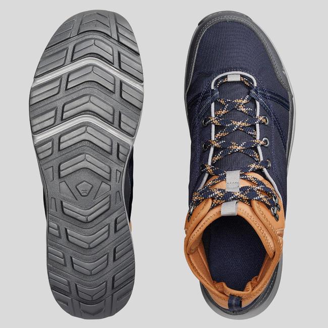 Men's Hiking Shoes WATERPROOF (Mid Ankle) NH150 - Blue/Brown