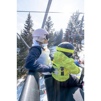 Ski-Lernhilfe Skiwiz 100 Kinder gelb / marineblau