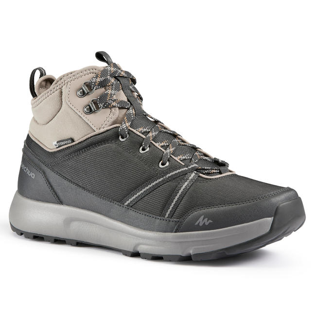 Men's Hiking Shoes WATERPROOF (Mid Ankle) NH150 - Carbon Grey