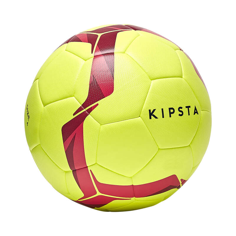 11 FOOTBALL BALLS Football - Size 4 F500 Light - Yellow KIPSTA - Football