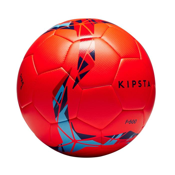 Ballon de football Hybride F500 taille 5 rouge /bleu