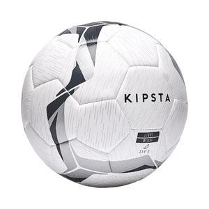Light Football Ball Size 5 F500 - White/Black/Silver