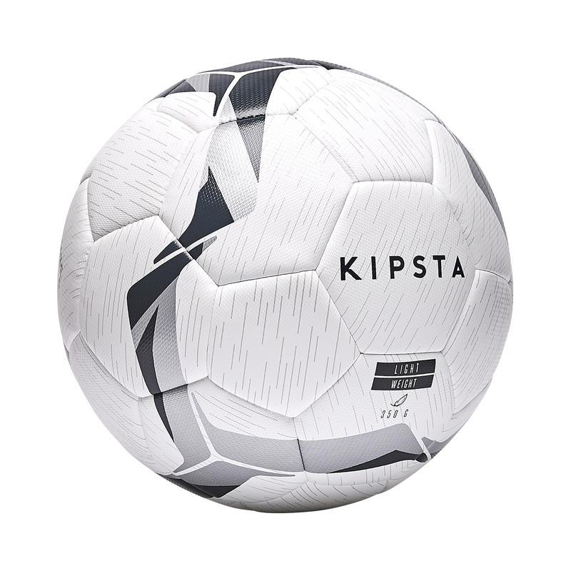 Bola Hybrid Ringan Ukuran 5 F100 - Putih/Hitam/Perak