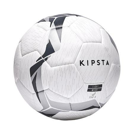 F500 Hybrid Football Ball Size 5 - White/Black/Silver