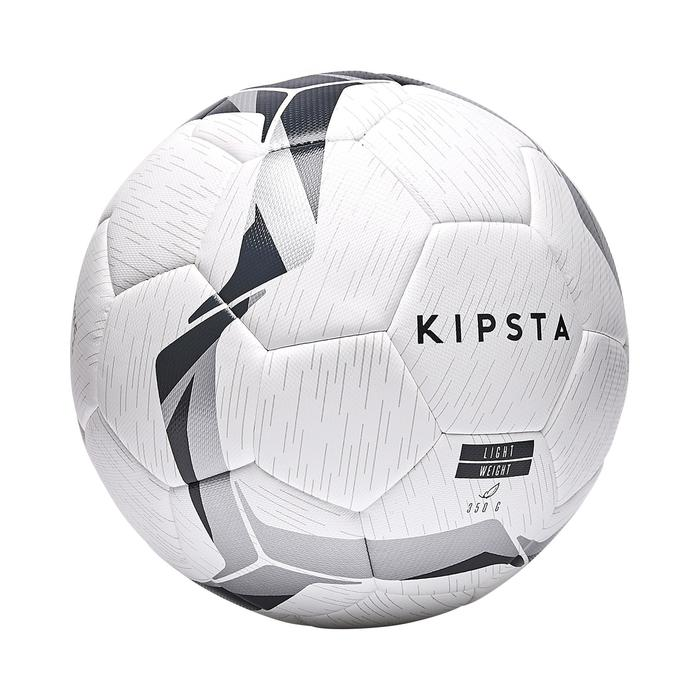 Ballon de football hybride F100 light taille 5 blanc noir argent