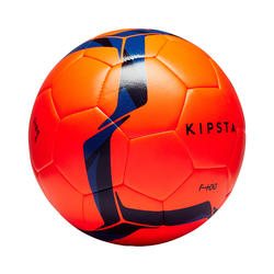 F100 Hybrid Size 5 Football Ball - Orange/Blue