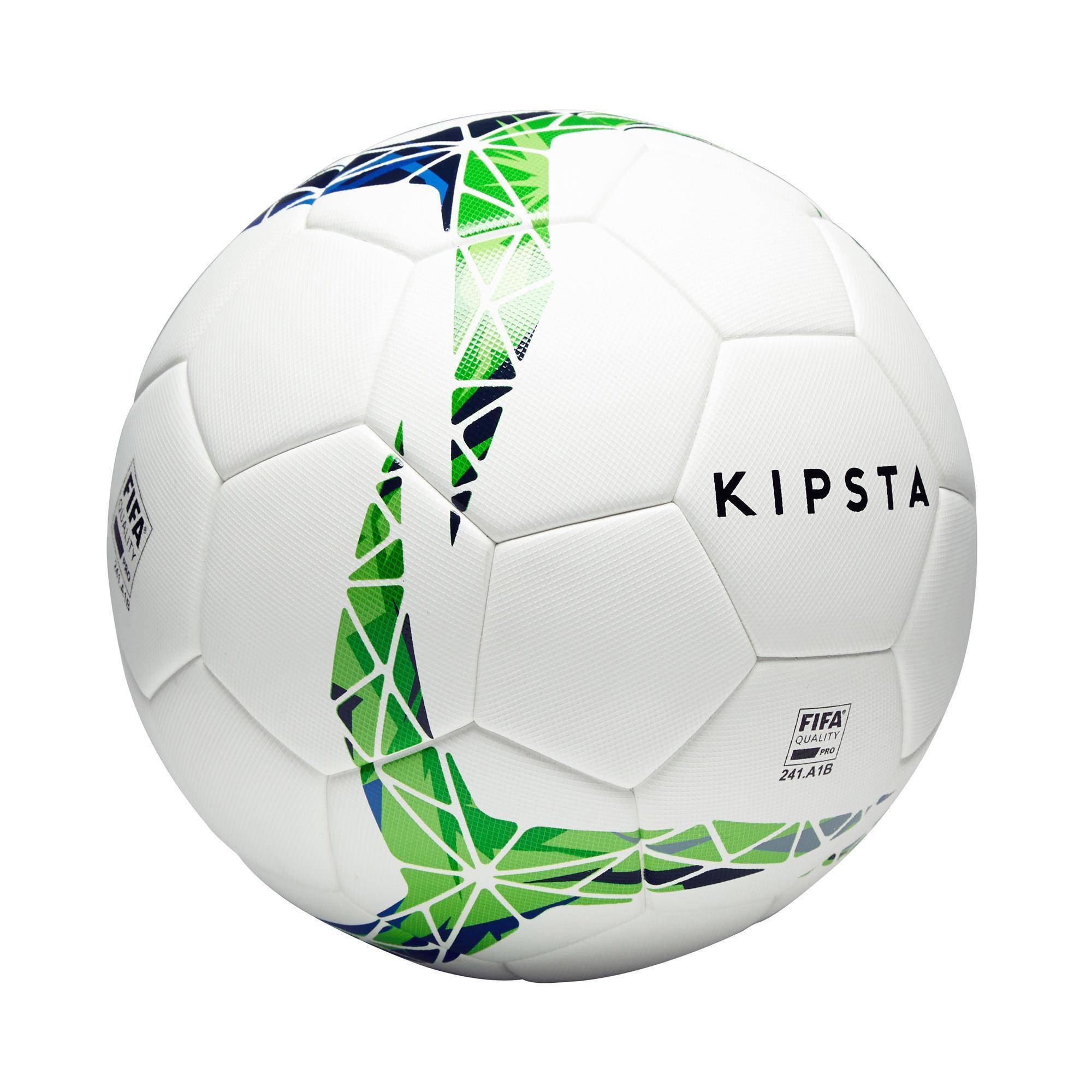 Fußball F900 FIFA Pro thermogeklebt Größe 5 weiß/grün/blau