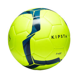 Football Ball Size 5 F100 Hybrid - Yellow/Blue