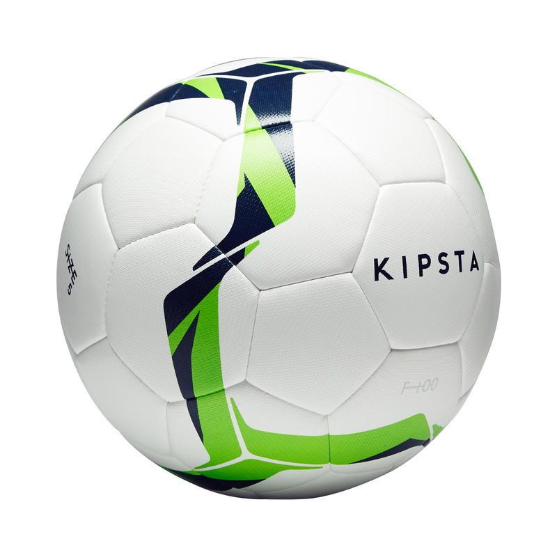 F100 Size 5 Hybrid Football Ball - White/Green